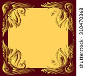 vector red and gold pattern...   Shutterstock .eps vector #310470368