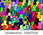 crowd  surge of people  human... | Shutterstock .eps vector #31047526