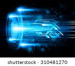 dark blue color light abstract... | Shutterstock .eps vector #310481270