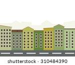 modern green city concept | Shutterstock .eps vector #310484390