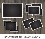 retro photo frames.old photo... | Shutterstock .eps vector #310486649