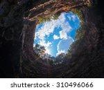 cenote melissani  kefalonia.  | Shutterstock . vector #310496066