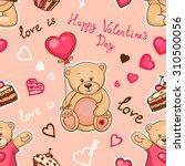 cute seamless valentine... | Shutterstock .eps vector #310500056