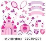 flower princess castle | Shutterstock .eps vector #310504379