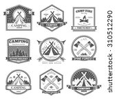 retro vector vintage camp label ... | Shutterstock .eps vector #310512290