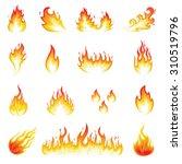 fire flames | Shutterstock .eps vector #310519796
