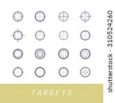 collection of vector targets.... | Shutterstock .eps vector #310524260