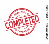 completed stamp vector | Shutterstock .eps vector #310534358