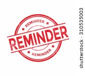 payment reminder rubber stamp | Shutterstock .eps vector #310535003