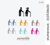 elder icon.old man.vector... | Shutterstock .eps vector #310538630
