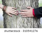 a young indian couple's... | Shutterstock . vector #310541276