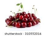cherries isolated on white | Shutterstock . vector #310552016