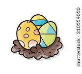 easter egg doodle | Shutterstock .eps vector #310554050