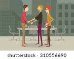 people in business casual... | Shutterstock .eps vector #310556690
