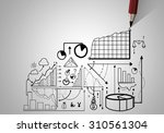 market concept with pencil... | Shutterstock . vector #310561304