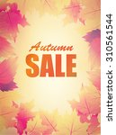 Autumn Big Sale Sign On Blurre...
