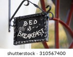 Metal Bed And Breakfast Sign O...
