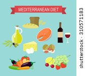 flat set of products of the... | Shutterstock .eps vector #310571183