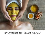 The Mask With Turmeric In Spa...