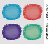 multicolor water color hand... | Shutterstock .eps vector #310597070