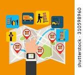 delivery service design  vector ... | Shutterstock .eps vector #310598960