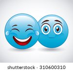 emoticon concept design  vector ... | Shutterstock .eps vector #310600310