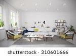 interior of cozy vacation house ...   Shutterstock . vector #310601666