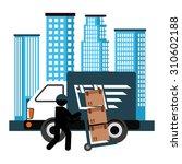 delivery service design  vector ... | Shutterstock .eps vector #310602188