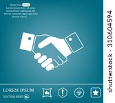 icon of handshake sign. | Shutterstock .eps vector #310604594