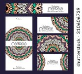 mandala pattern design template....   Shutterstock .eps vector #310606739
