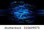 dark blue light abstract... | Shutterstock . vector #310609073