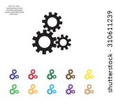 flat icon of gears | Shutterstock .eps vector #310611239