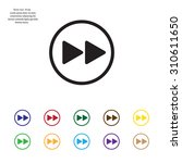 rewind  vector icon   Shutterstock .eps vector #310611650