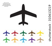 plane icon | Shutterstock .eps vector #310613219