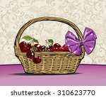 cherry basket | Shutterstock .eps vector #310623770