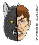 conception of anger or simple ... | Shutterstock .eps vector #310625534