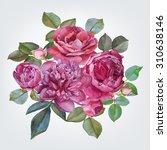 floral card. bouquet of... | Shutterstock . vector #310638146