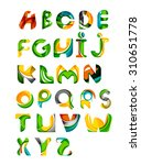 collection of alphabet letters... | Shutterstock . vector #310651778