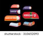 colorful download web button...