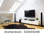 modern apartment with home... | Shutterstock . vector #310655348