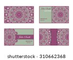 collection of business cards... | Shutterstock .eps vector #310662368
