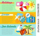 set of flat design concepts of... | Shutterstock .eps vector #310663838