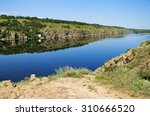 landscape of the dnieper river... | Shutterstock . vector #310666520