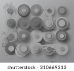 abstract grey flat paper... | Shutterstock .eps vector #310669313
