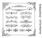 set of vintage vector frame... | Shutterstock .eps vector #310690826