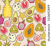 decorative colorful exotic... | Shutterstock .eps vector #310692899