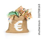 Bag Of Money With Different...
