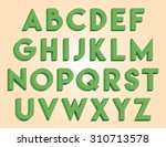green decorative font | Shutterstock .eps vector #310713578