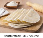 homemade mexican tortillas with ... | Shutterstock . vector #310721690