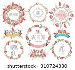 floral frame collection.... | Shutterstock .eps vector #310724330